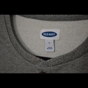Old Navy Shirts - Old Navy Grey Log Sleeve Henley for Men
